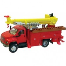 gmc topkick 2 axle city powers truck in red