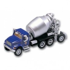 interntaional 4900 4 axle cement mixer blue and silver