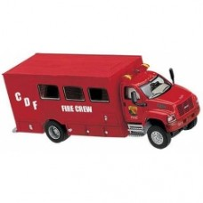 cdf fire crew truck 2003 gmc topkick 23 axle in red