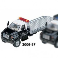 2003 gmc topkick 2 axle roll on tow truck in black and silver