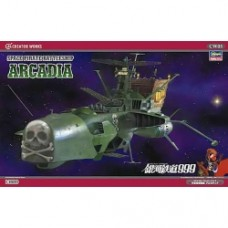 Hasegawa CW05 Battleship ARCADIA Captain Harlock 1/1500 scale kit