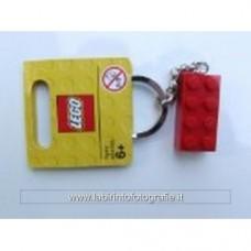LEGO Rosso - PORTACHIAVI BRICK