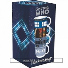 Doctor Who Set of 4 Stacking Mugs