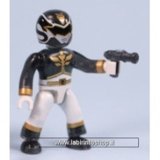 Power Ranger Black and White megabloks Minifigure