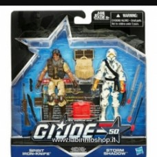 G.I. Joe 50th Anniversary Action Figures 2-Packs Wave 3 Case - Exclusive - Spirit iron-knife storm shadow
