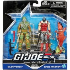 G.I. Joe 50th Anniversary Action Figures 2-Packs exclusive Blowtorch Croc Master
