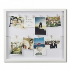 CLOTHESLINE SHADOWBOX PHOTO DISPLAY