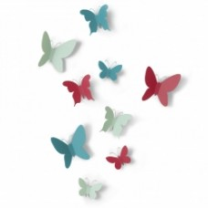 MARIPOSA WALL DECOR set di 24