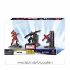 Deadpool Venom Spiderman Marvel Heroes Diorama Figure The Avengers