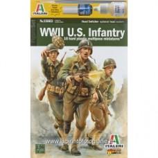ITALERI 5515601 1/56 US Infantry 1943-1945 12 Figures