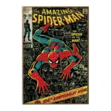 Spider Man 100th Anniversary Wood Wall Sign