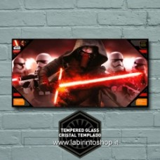 KYLO & STORMTROOPERS GLASS POSTER STAR WARS EP7