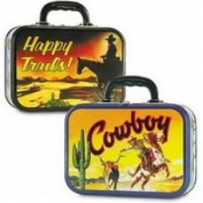 valigetta cowboy in metallo
