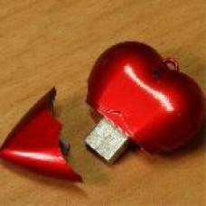 chiavetta usb cuore 1 gb