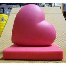 Fermalibri cuore rosa