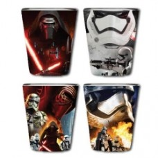 Star Wars Episode VII - The Force Awakens Villain Poster Clear Full Wrap Shot Glass 4-Pack