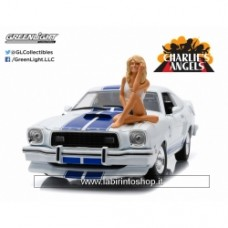 Charlie's Angels 1976 Ford Mustang Cobra II with Farrah Fawcett figure  1:18