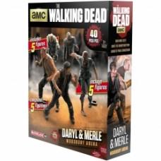 MCFARLANE TOYS Walking Dead Daryl & Merle Woodbury Arena Building Set