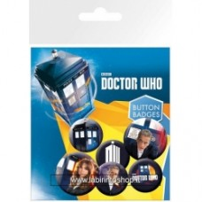 Doctor Who - set di 6 badges 12th Doctor