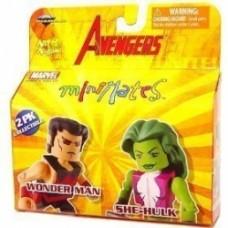 minimates avengers wonder man she-hulk