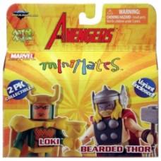 minimates avengers loki bearded thor