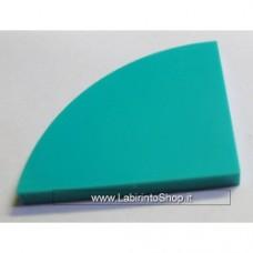 Mattonella 4 x 4 Stondato Verde-Azzurro Cobi