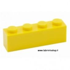 Mattone 1 x 4 giallo Cobi