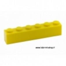 Mattone 1 x 6 giallo Cobi