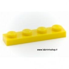 Piastra 1 x 4 giallo Cobi