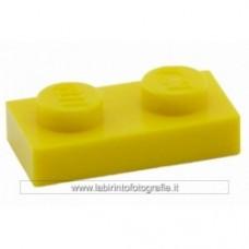 Piastra 1 x 2 giallo Cobi