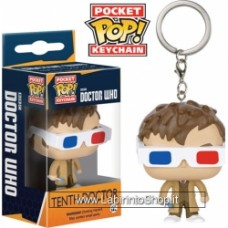Doctor Who Pocket Pop! Keychain Television Vinyl Figure 10th Doctor 3-D Special Limited Edition