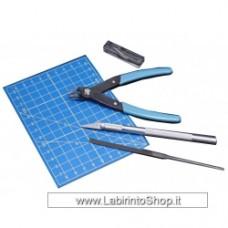 ACCESSORI PER MODELLISMO Italeri 50815 Tool Set - File - Sprue Cutter - Craft Knife - Mat