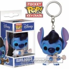 Disney Elvis Stitch KeyChain Funko POP