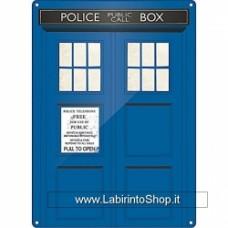 Doctor Who - Tardis (Targa Acciaio)