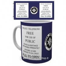 DOCTOR WHO TARDIS SIGN MUG