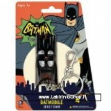 Animated Classic Batmobile 3D Comic Book Hanging Keychain Charm