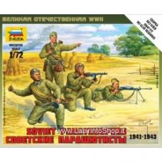 ZVEZDA World War II Soviet Paratroopers 1941-1943 1/72