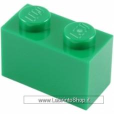Mattone 1 x 2 Verde Compatibile