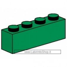 Mattone 1 x 4 Verde Compatibile