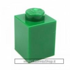 Mattone 1 x 1 Verde Compatibile
