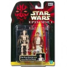Obi-wan kenobi with battle droid