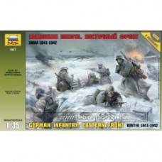 ZVEZDA GERMAN INFANTRY. EASTERN FRONT Winter 1941-1942 WWII KIT 1:35