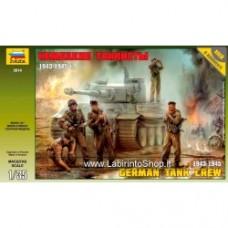 ZVEZDA GERMAN TANK CREW 1943-1945 WWII KIT 1:35