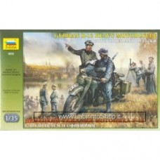 ZVEZDA GERMAN R-12 Heavy motorcycle WWII KIT 1:35