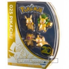 POKEMON 025 PIKACHU - PACK OF 4 MINI FIGURES Set 2