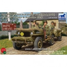 Bronco Models 1/35 US GPW 1/4ton W/trailer