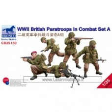 Bronco WWII British Paratroops in Combat set A