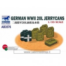 Bronco Kits 1/35 German 20L Jerry Cans WWII Model Kit
