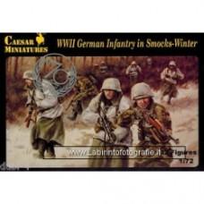 CAESAR MINIATURES - SET# 083 WWII GERMAN INFANTRY IN SMOCKS WINTER