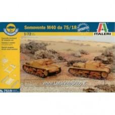 ITALERI WWII Semovente M40 da 75/18 1/72